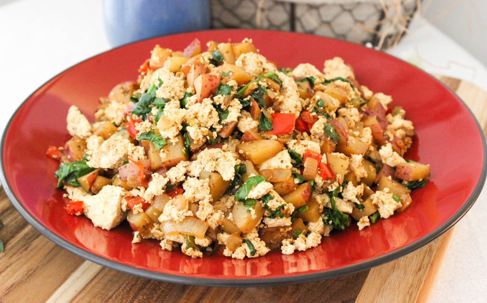 Tofu and Potato Breakfast Scramble [Vegan, Gluten-Free]