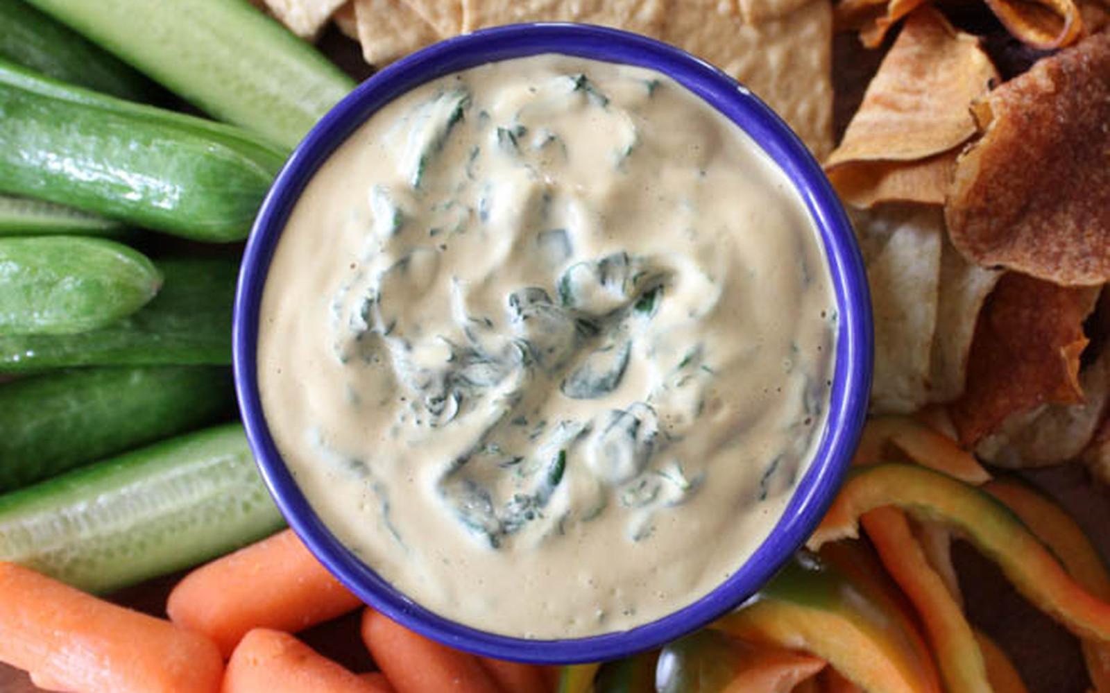 Cheesy Spinach Dip [Vegan, Gluten-Free]