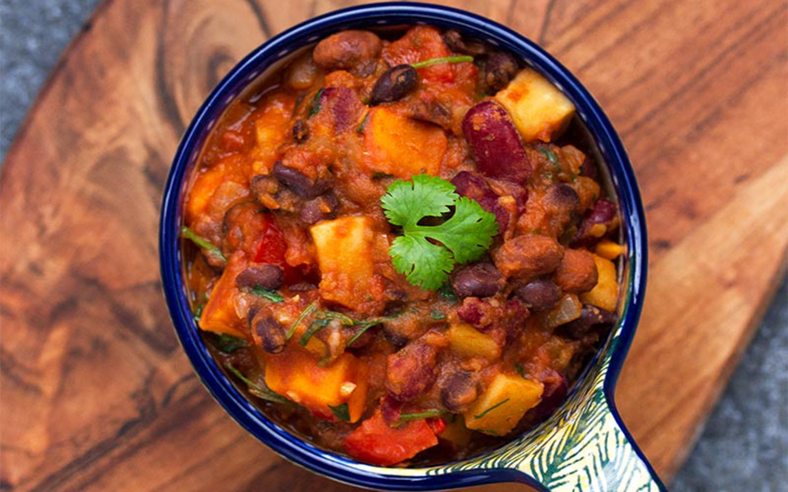 3 Bean Sweet Potato Chili