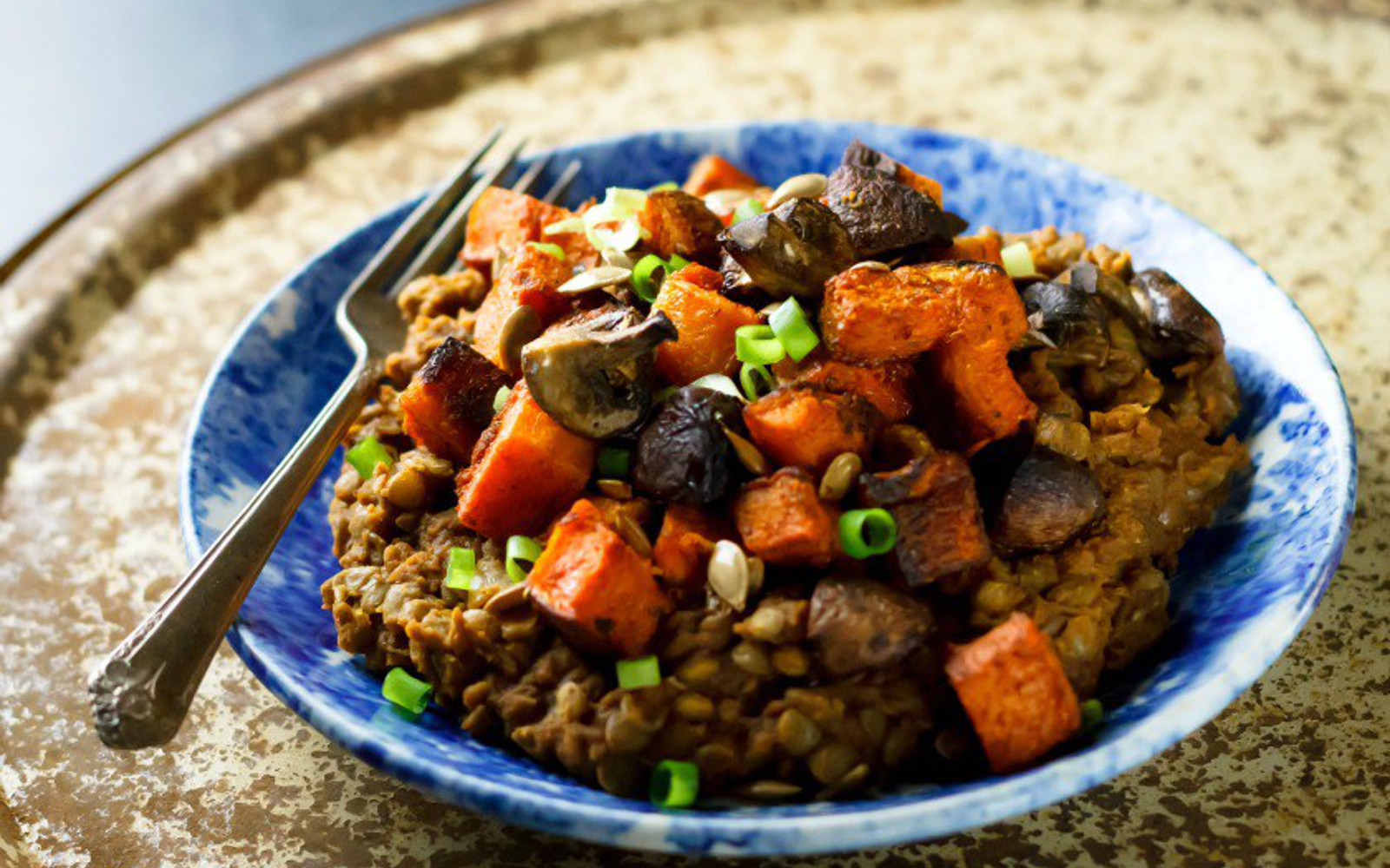 Butternut Squash and Green Lentil Curry