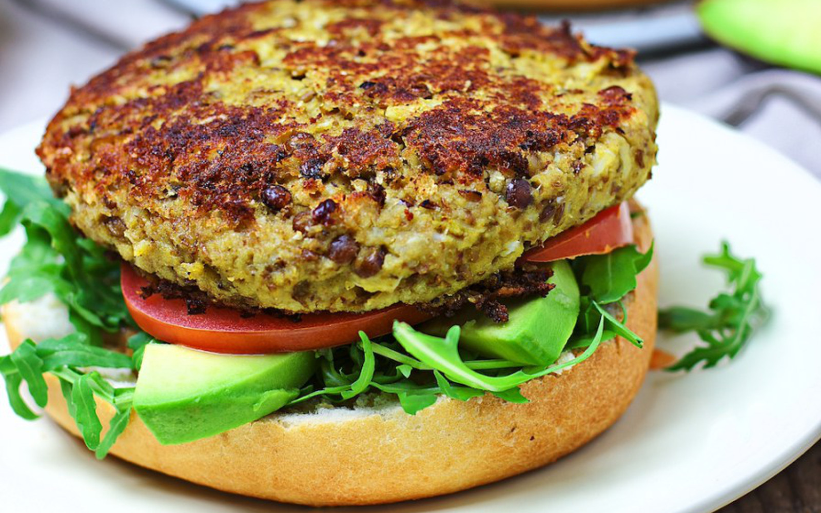 Cauliflower Veggie Burger Vegan One Green Planet