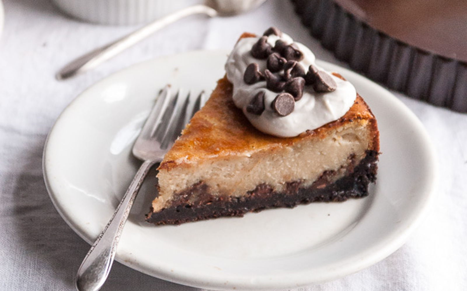 Chocolate Chip Cheesecake With Chocolate Cookie Crust