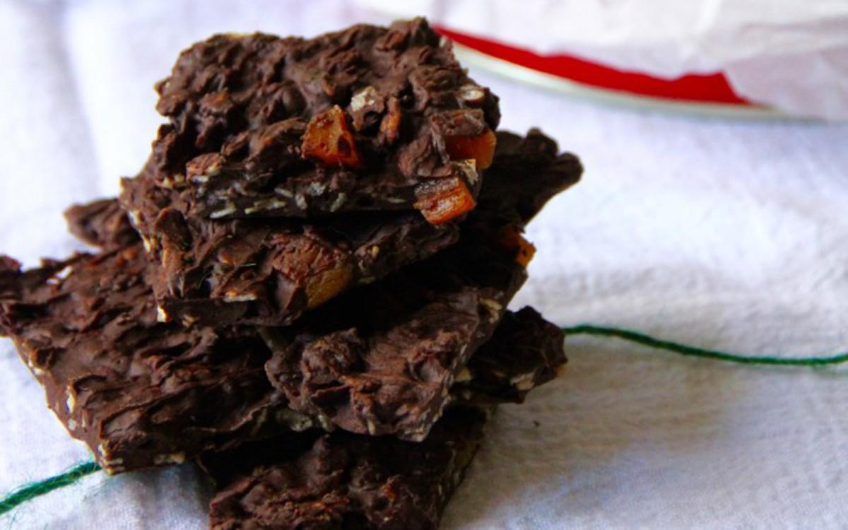 Chocolate Orange Granola Bark