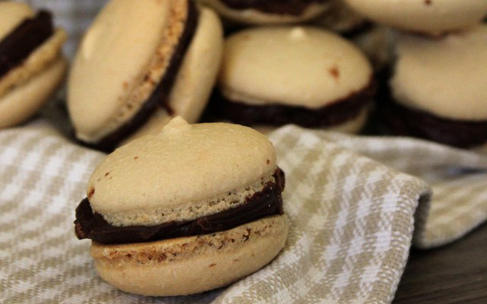 Coffee and Chocolate Macarons