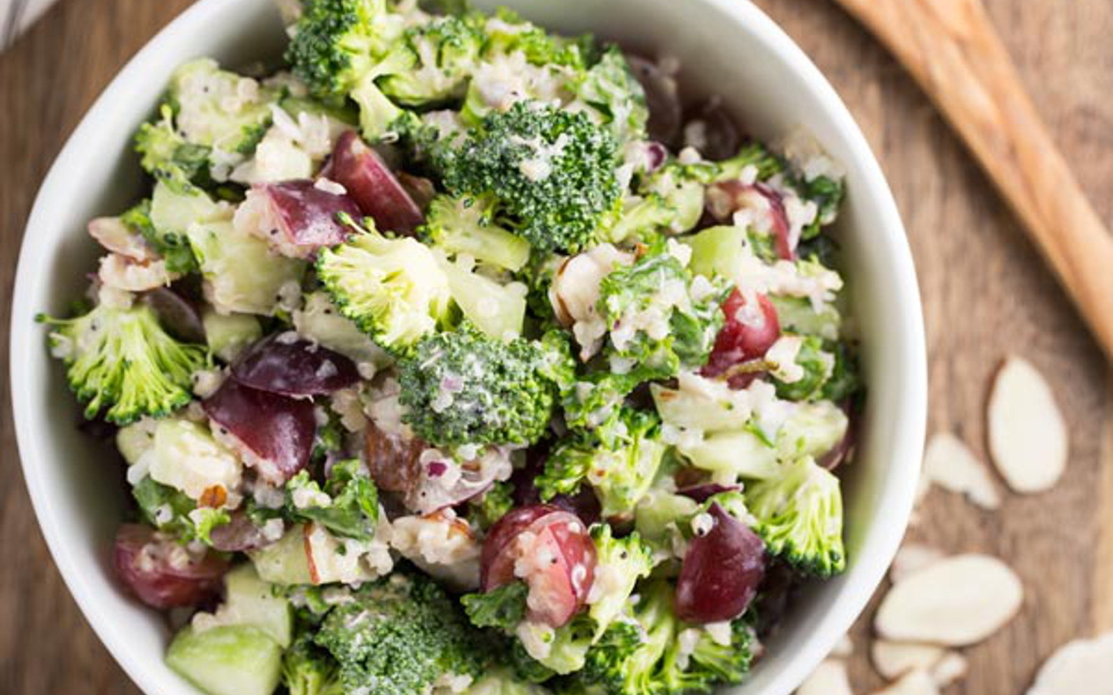 crunchy fresh broccoli salad
