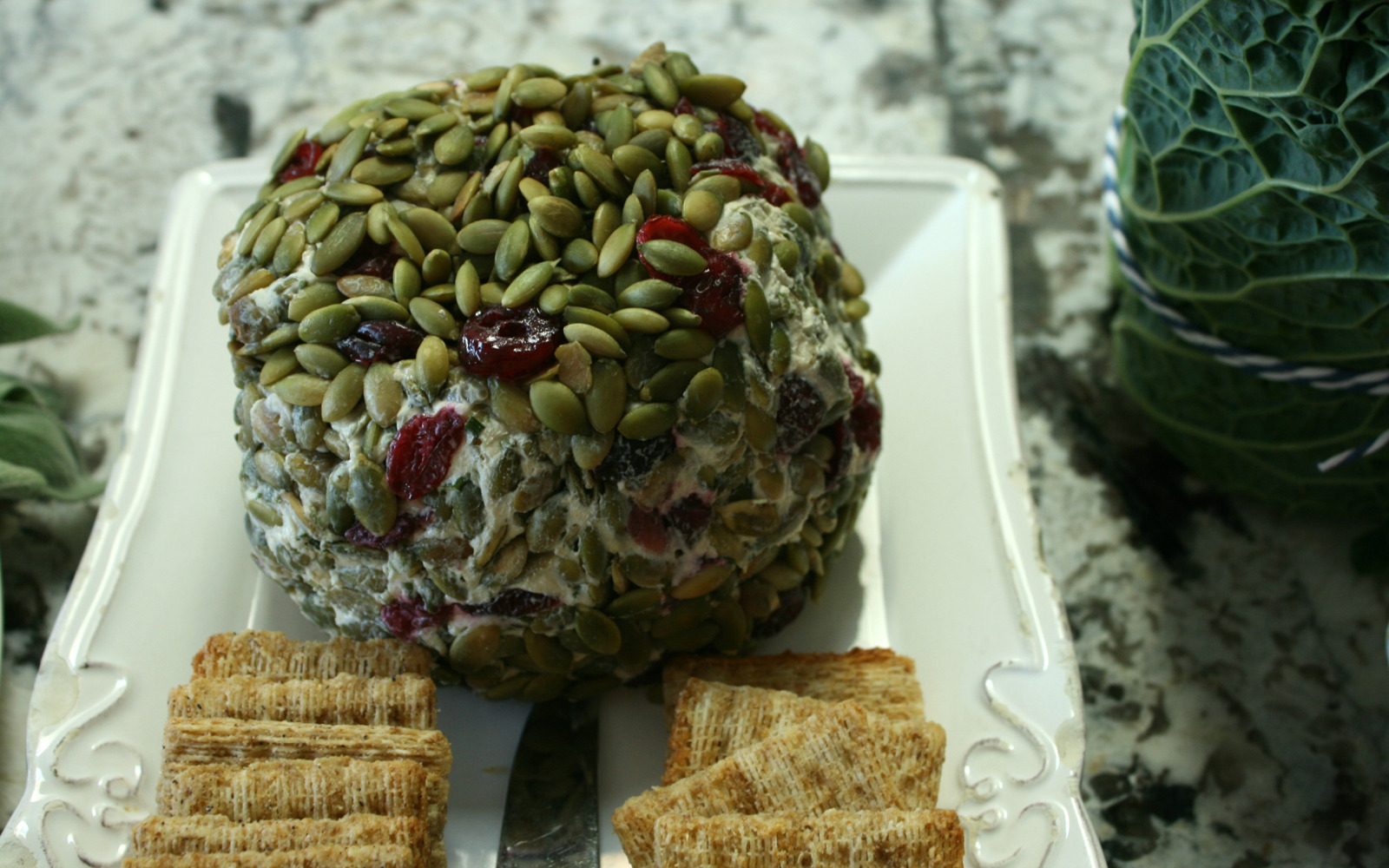 Festive Nut-Free Cheese Ball