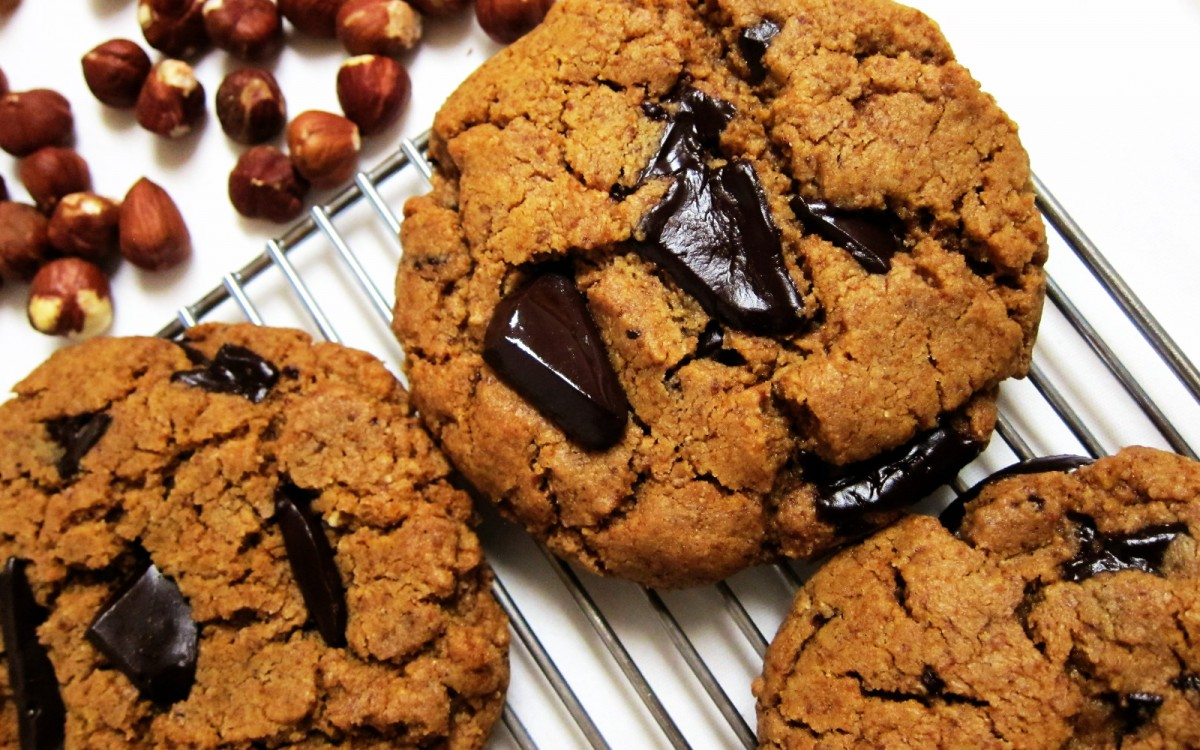 Hazelnut Butter Cardamom Chocolate Chunk Cookies