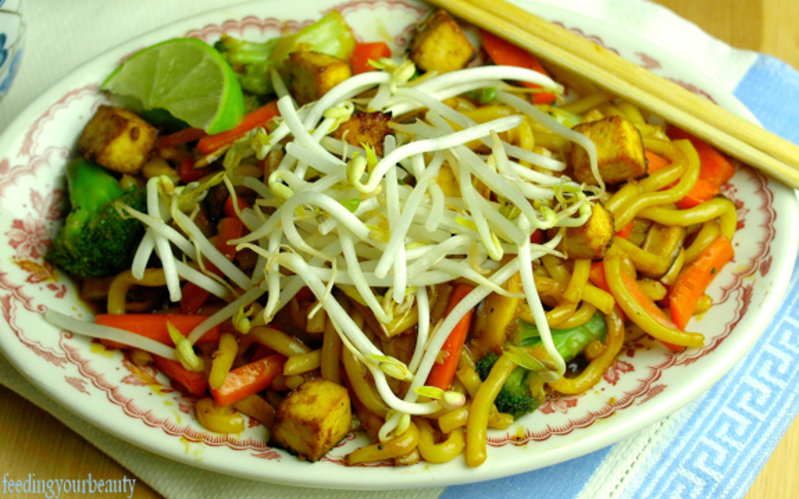 Japanese Pan Noodles With Healthier Homemade Teriyaki Sauce