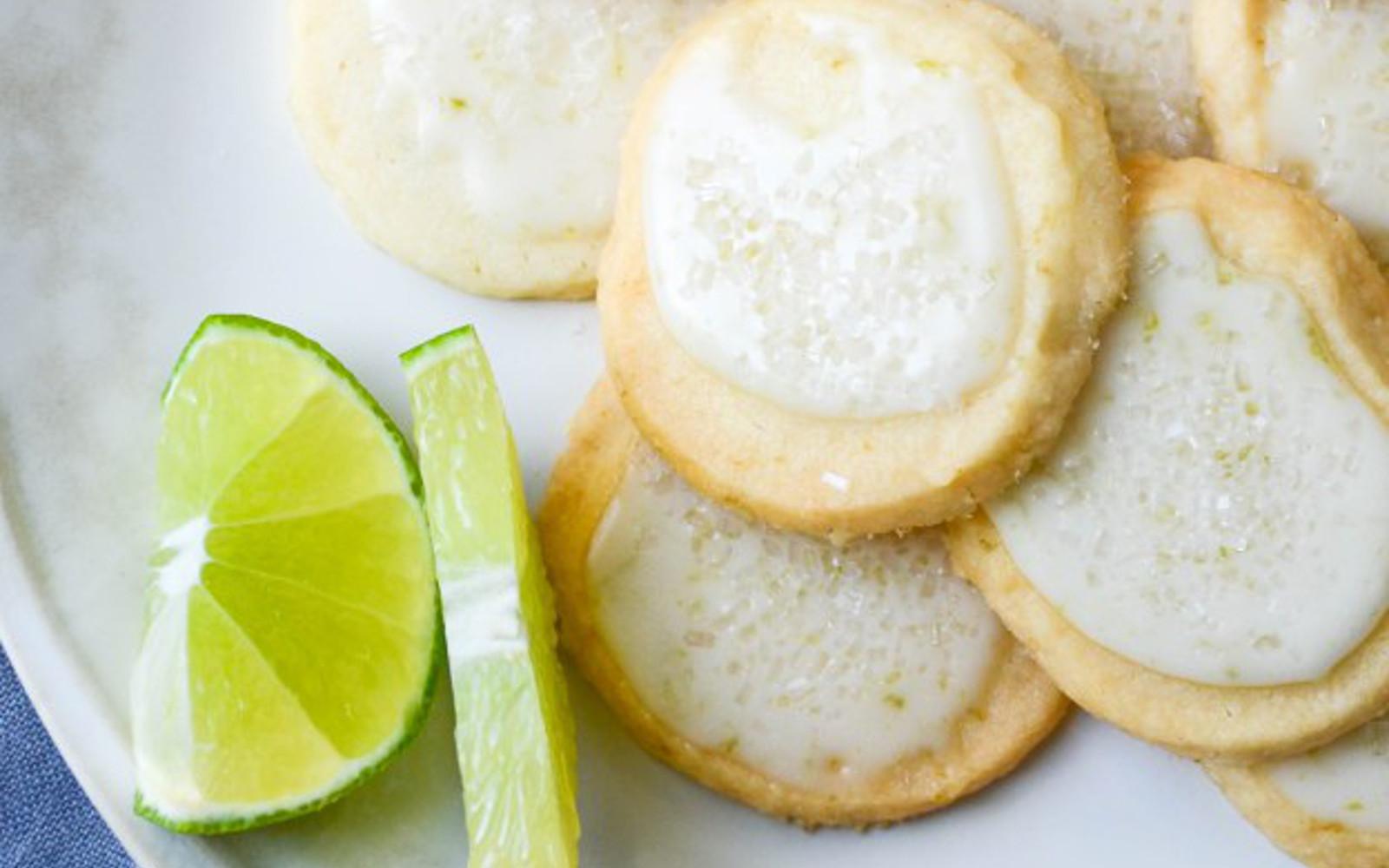 Vegan Key Lime Sparkle Cookies