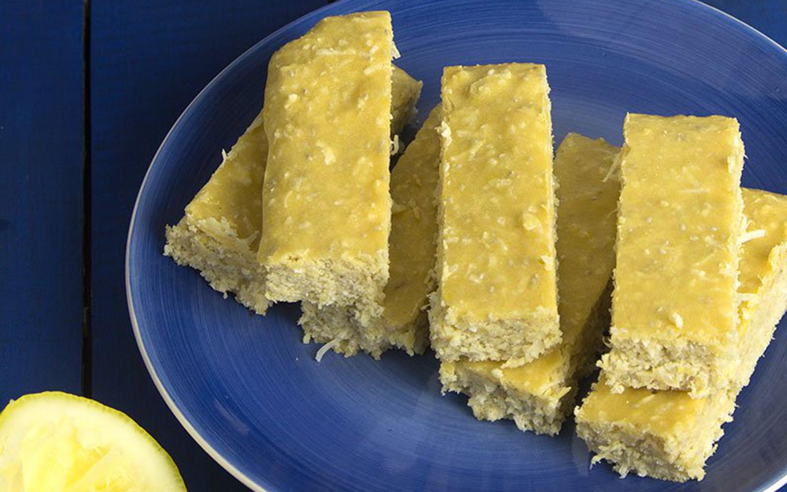 Lemon Coconut Protein Bars