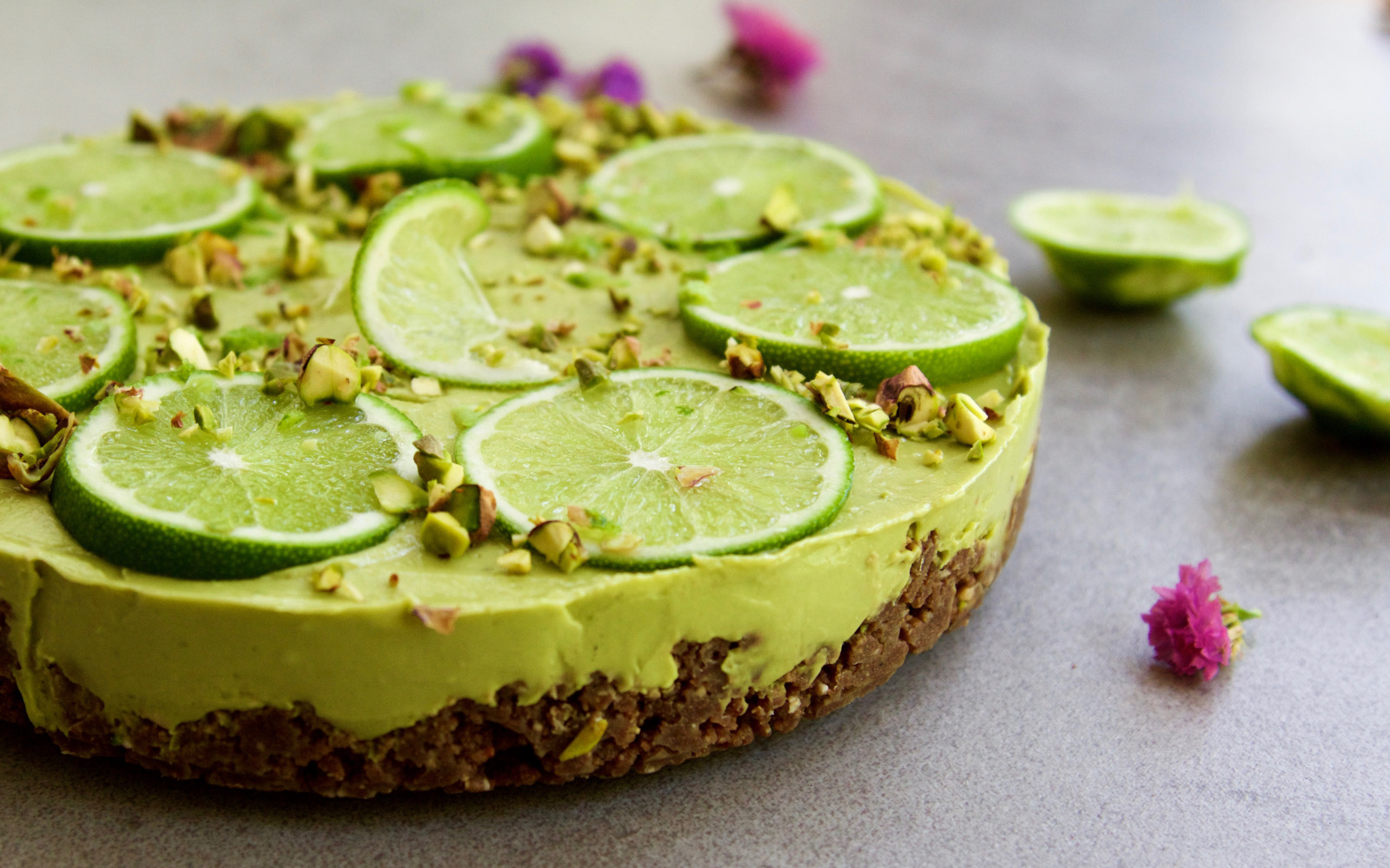 Raw Lime Tart With a Cacao Crust
