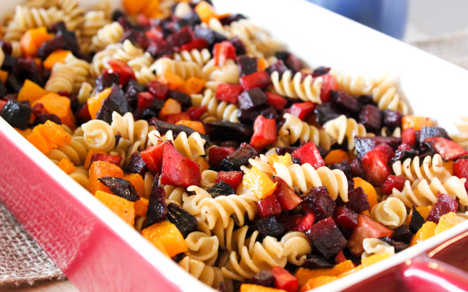 Vegan Roasted Veggie Pasta With Sage Cream Sauce