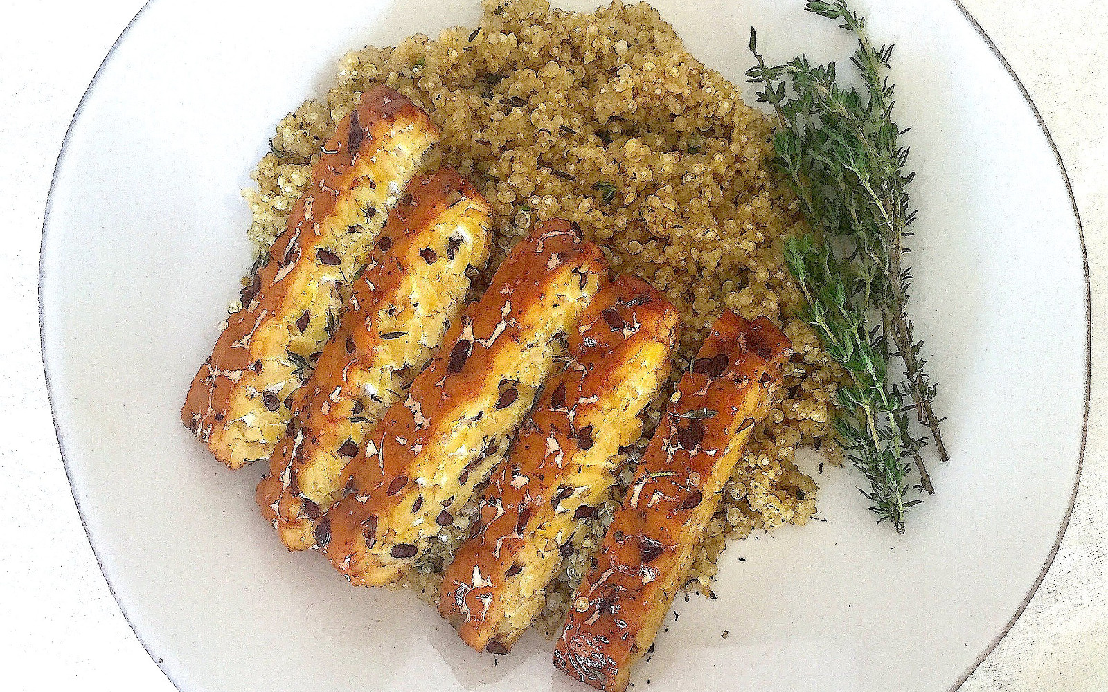 Savory Herb-Baked Tempeh and Quinoa