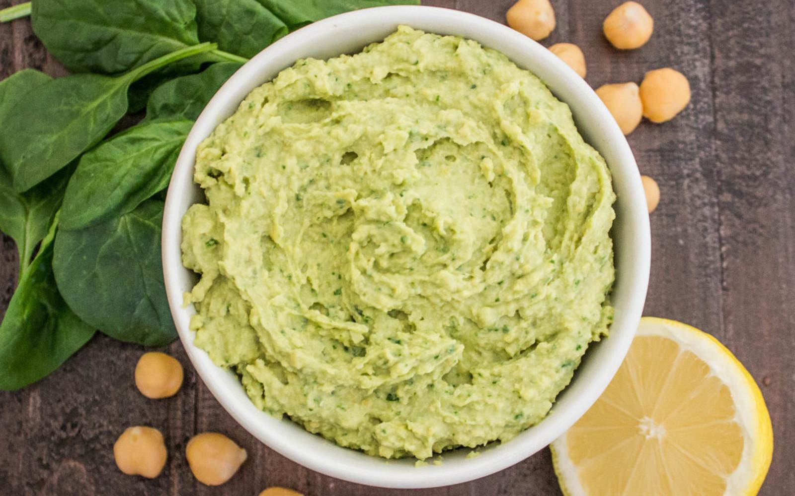 Spinach and Garlic Hummus