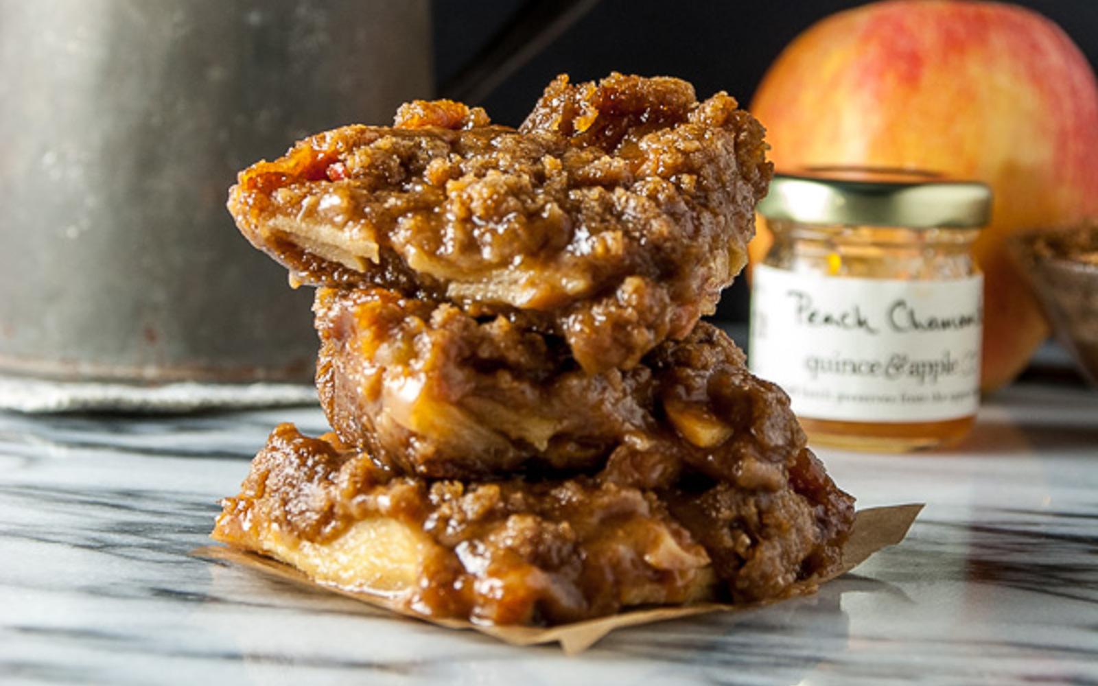 Apple and Peach Jam Pie Bars