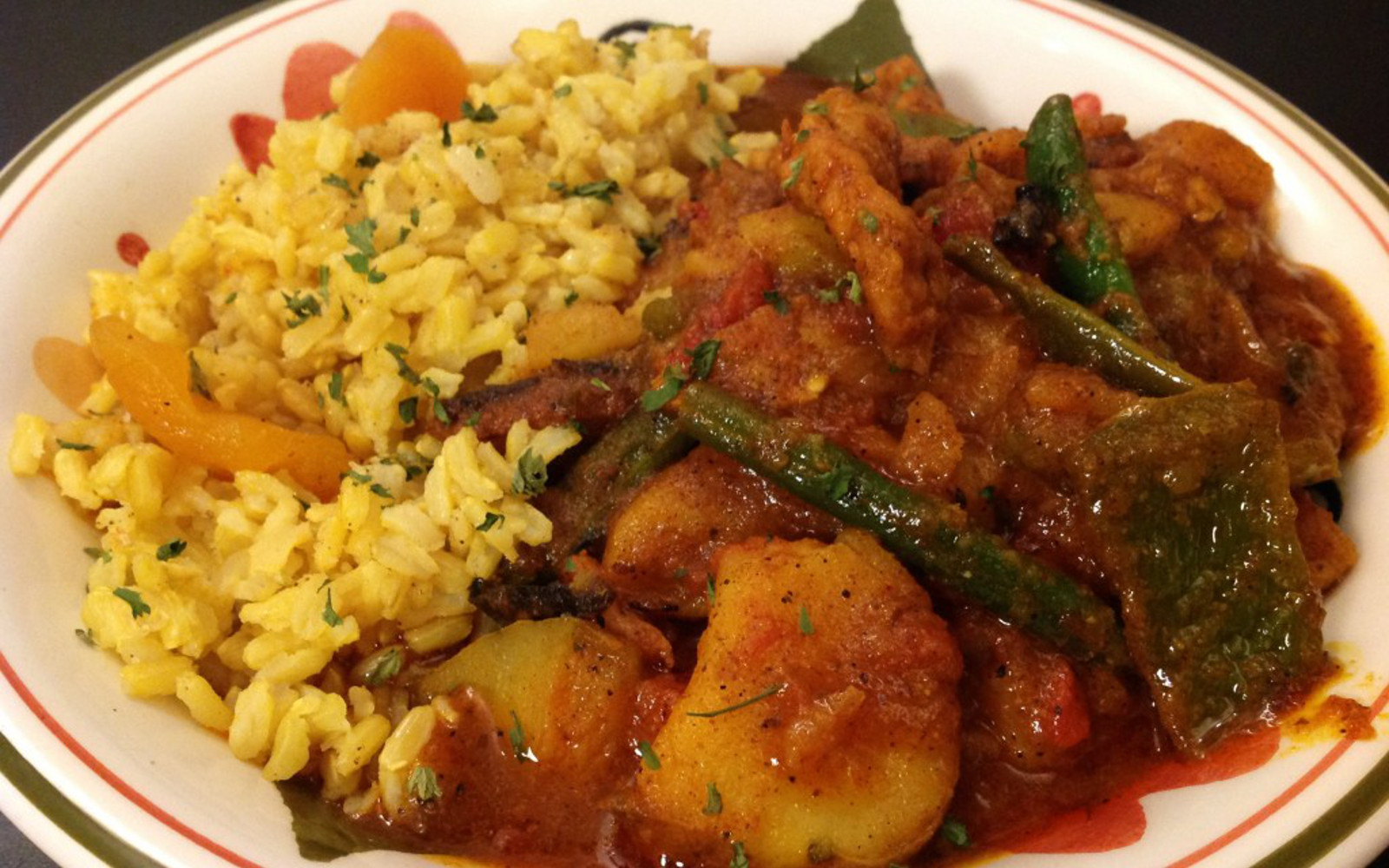 Cape Malay Curry With Turmeric Cinnamon Rice