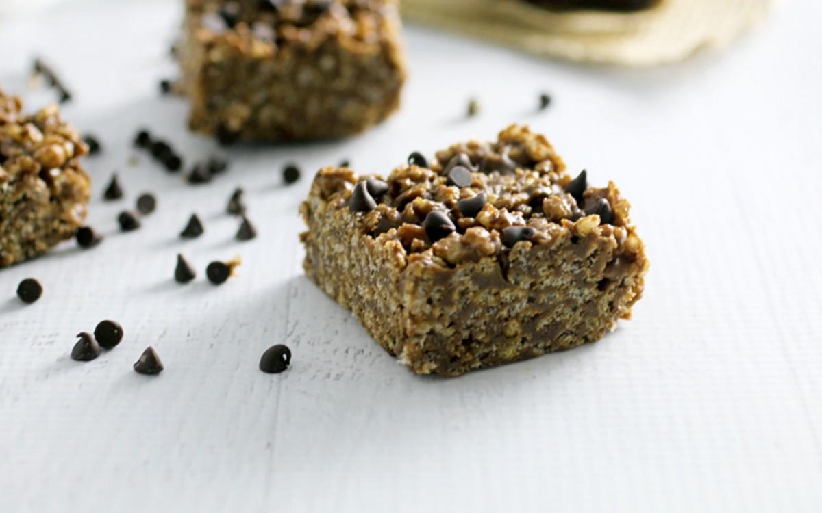 No-Bake Chocolatey Almond Butter Rice Crispy Treats