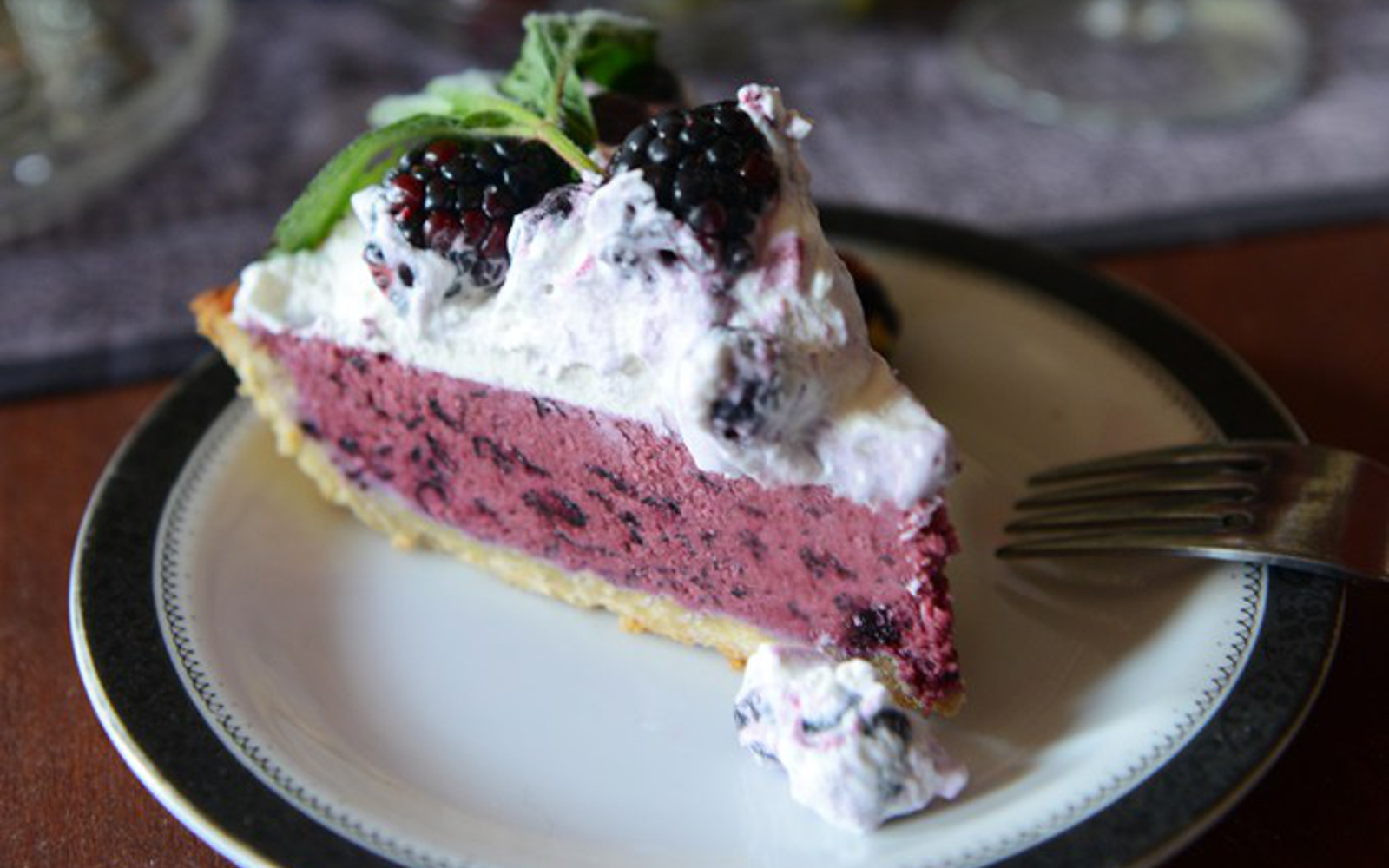 Frozen Blueberry Tart With a Lavender Coconut Crust