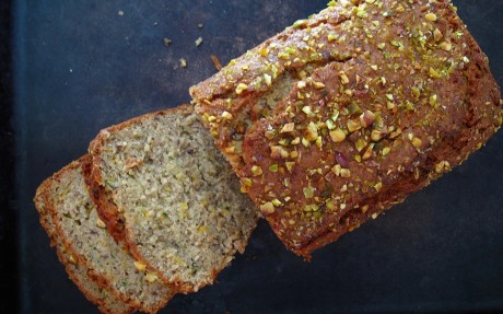 Zucchini Bread With Fennel and Pistachios
