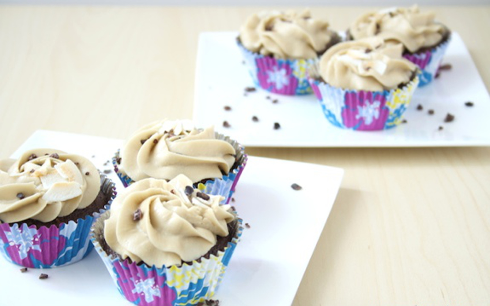 Hazelnut Coconut Cupcakes With Rich Coffee Frosting