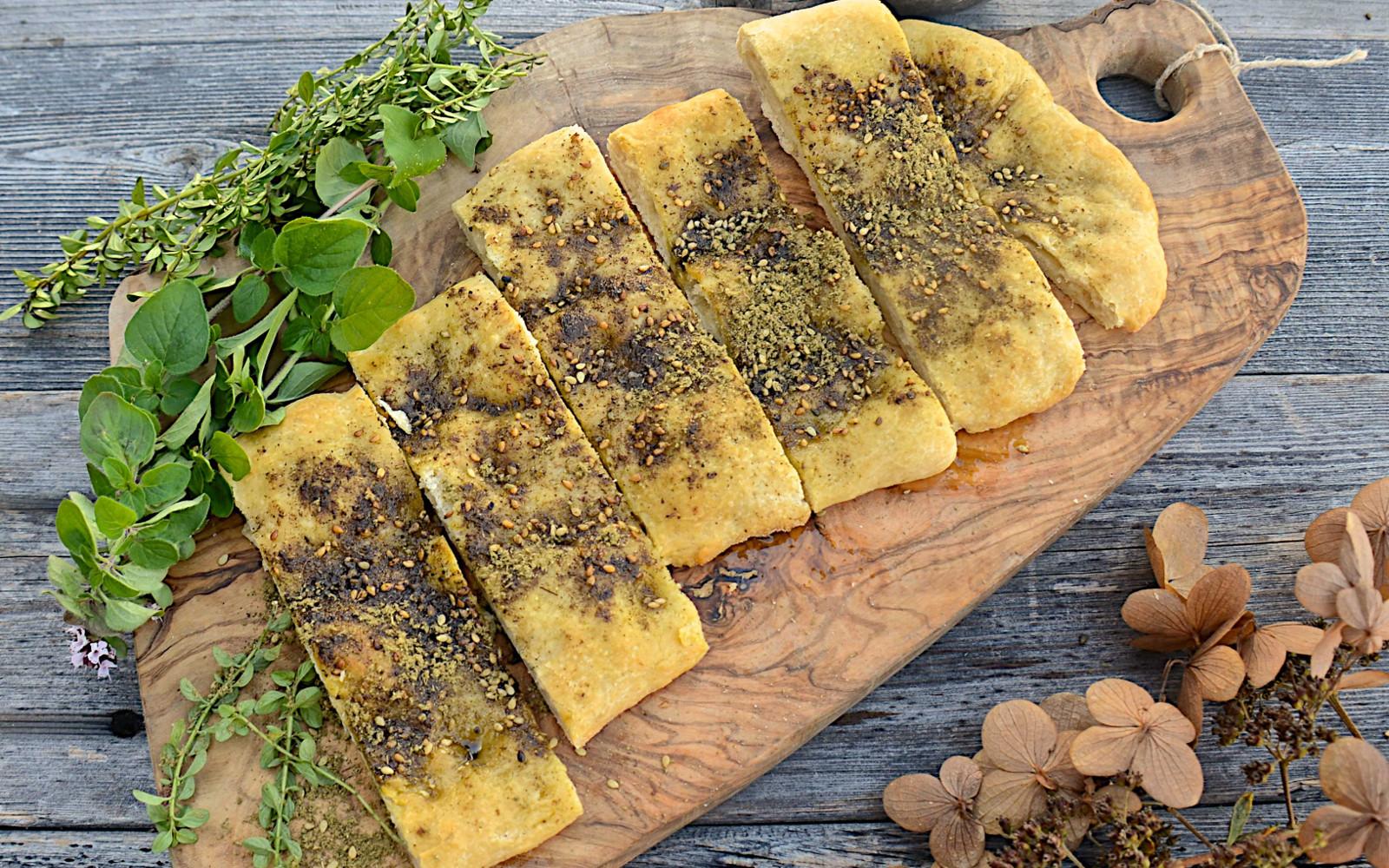 Homemade Za'atar Bread