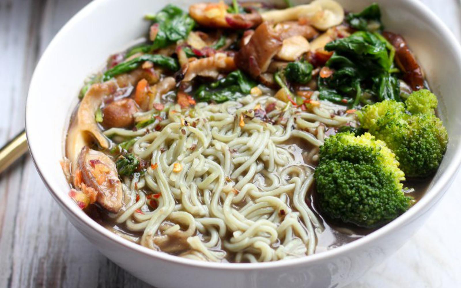 Mushroom Ramen Soup