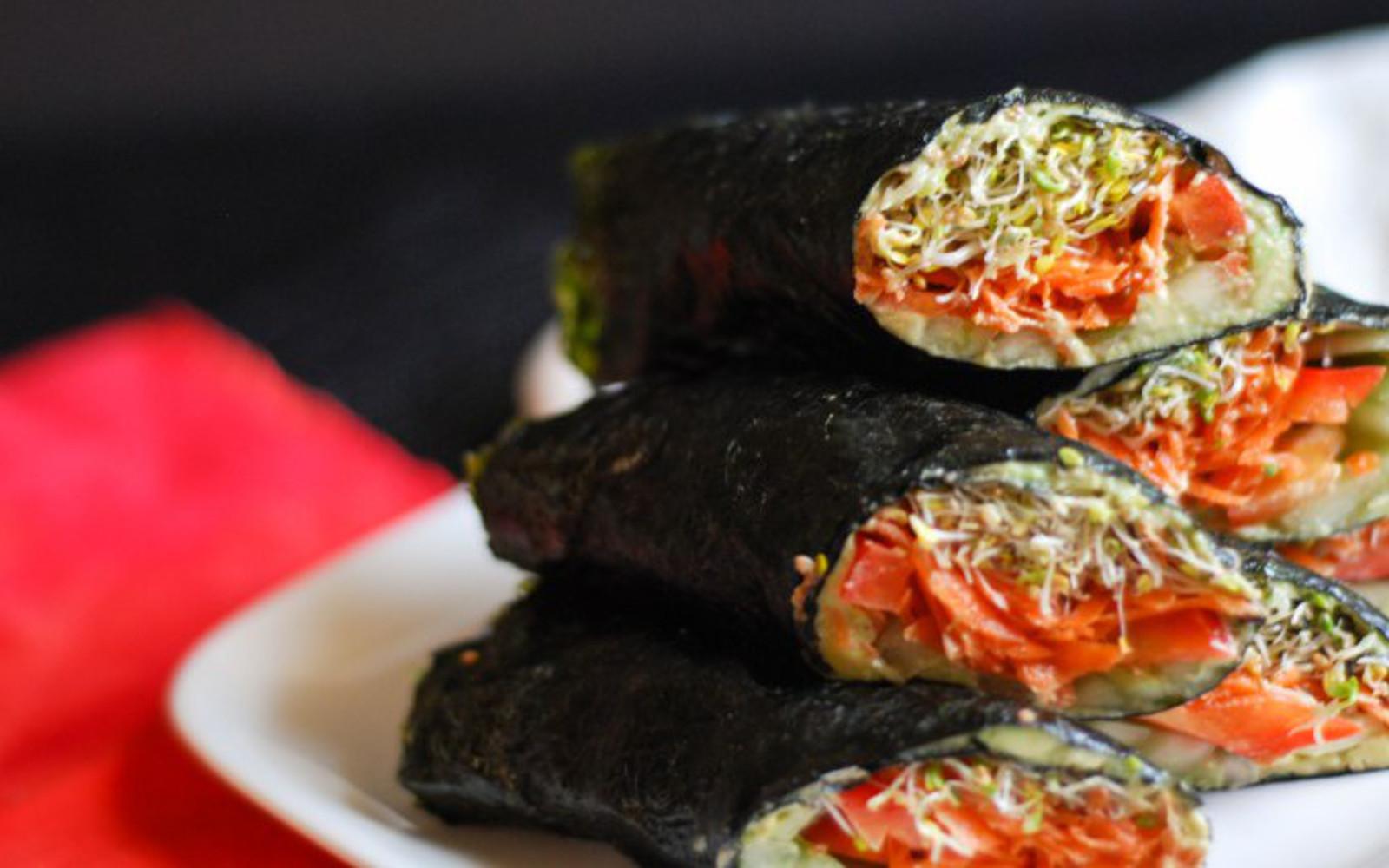 Nori Wraps With Creamy Avocado-Tahini Spread