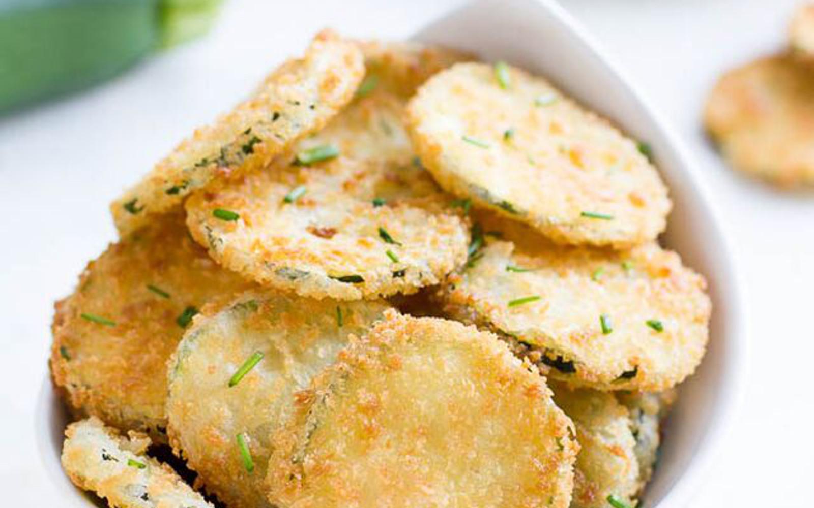 Panko-Crusted Zucchini Chips