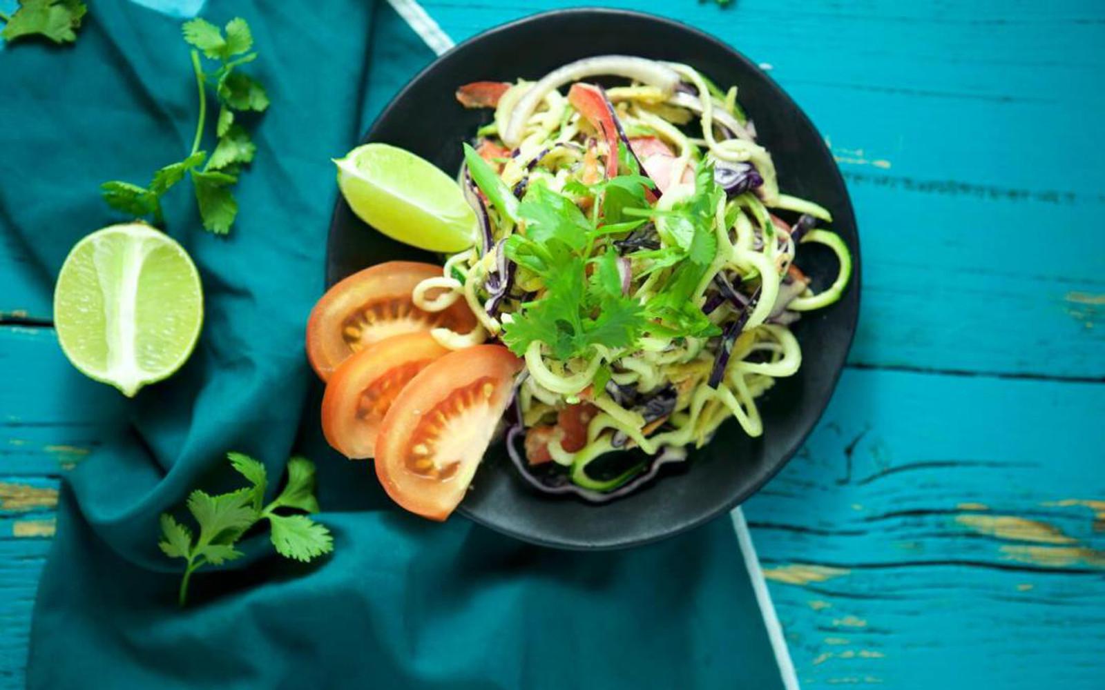 Raw Zucchini Pad Thai