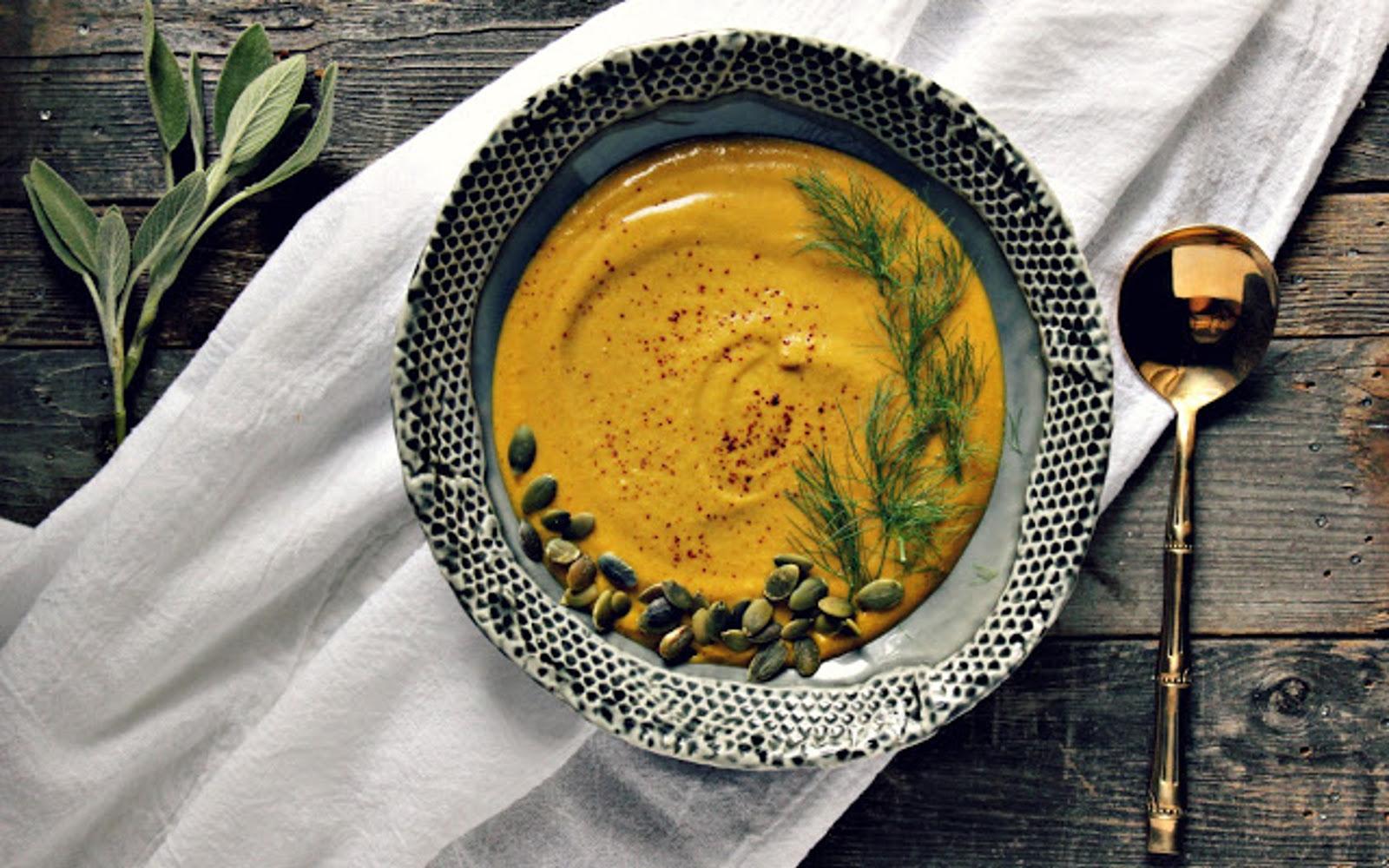 Velvety Roasted Kabocha and Fennel Soup