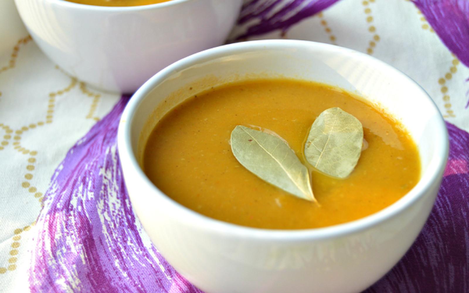 Savory Pumpkin and Celery Soup