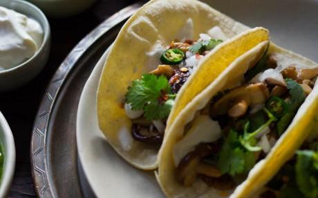 Shiitake Mushroom Soft Tacos