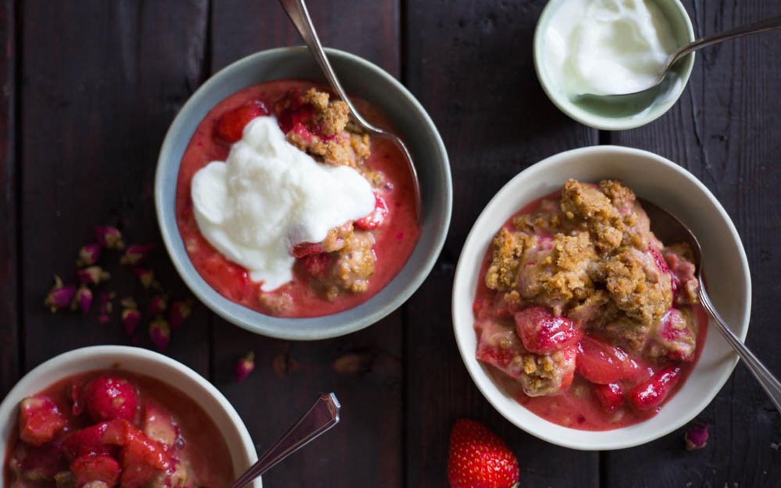 Strawberry Shortcake Crisp