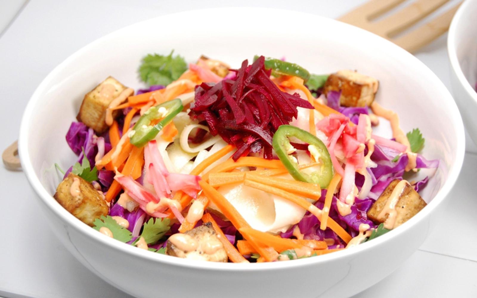 Tofu Banh Mi Salad With Pickled Vegetables