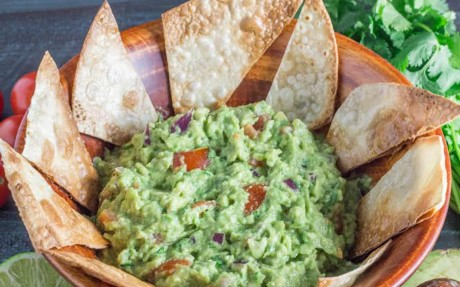 The Ultimate Guacamole with pita chips