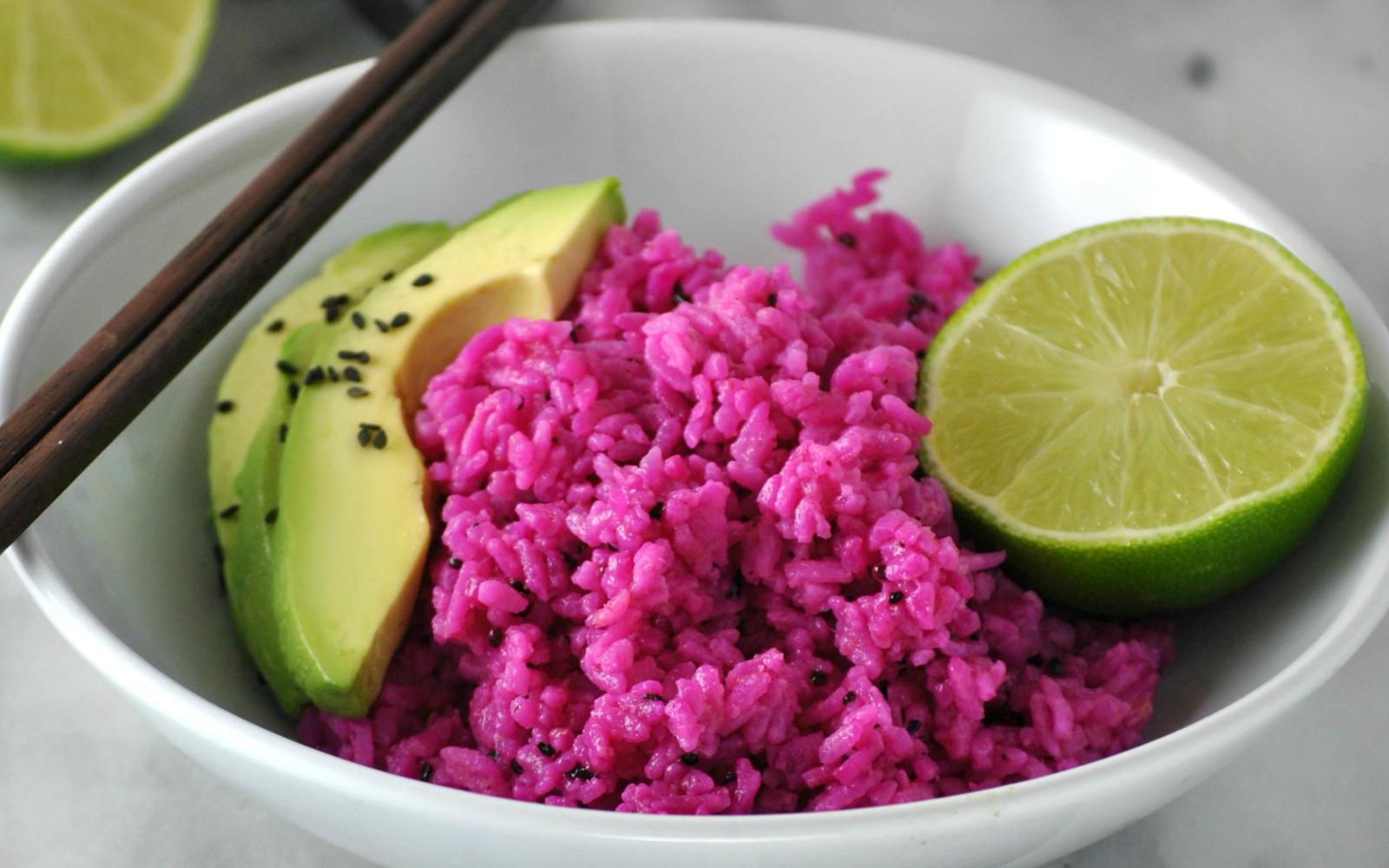 Vibrant Dragonfruit Coconut Rice