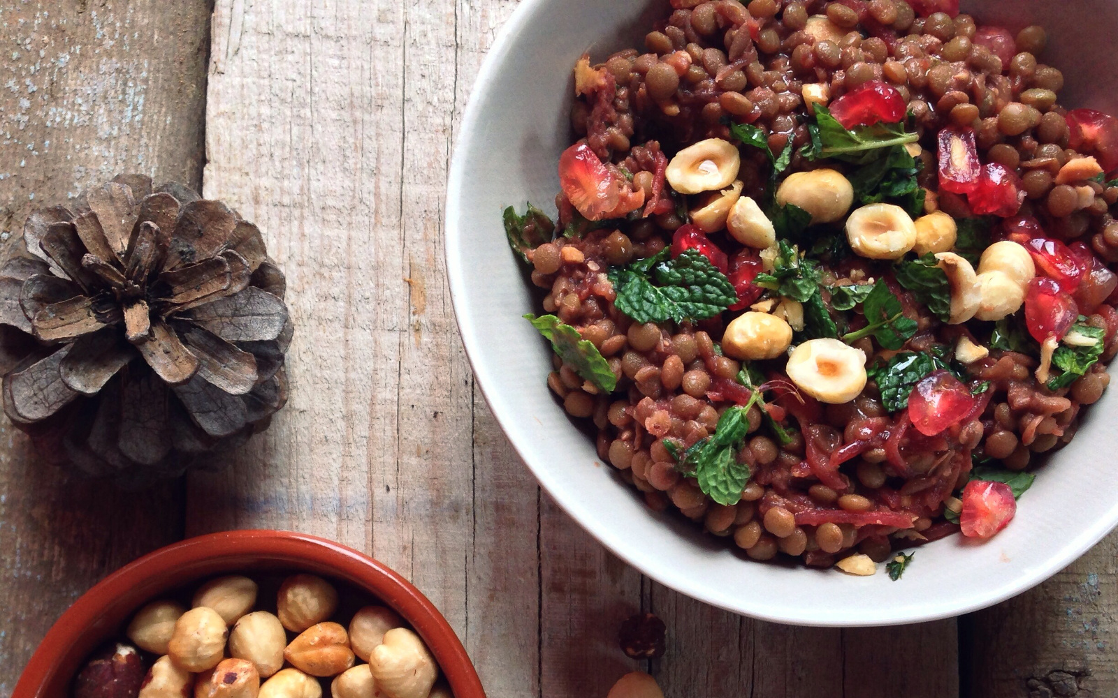 Warm Lentils With Beets and Hazelnuts