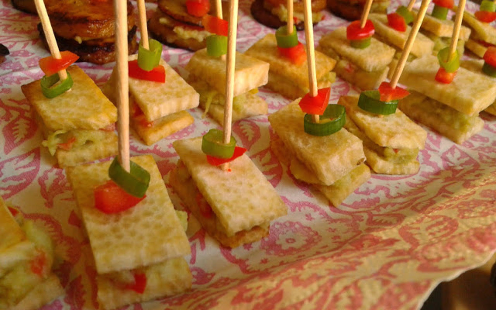 Yam Canapes