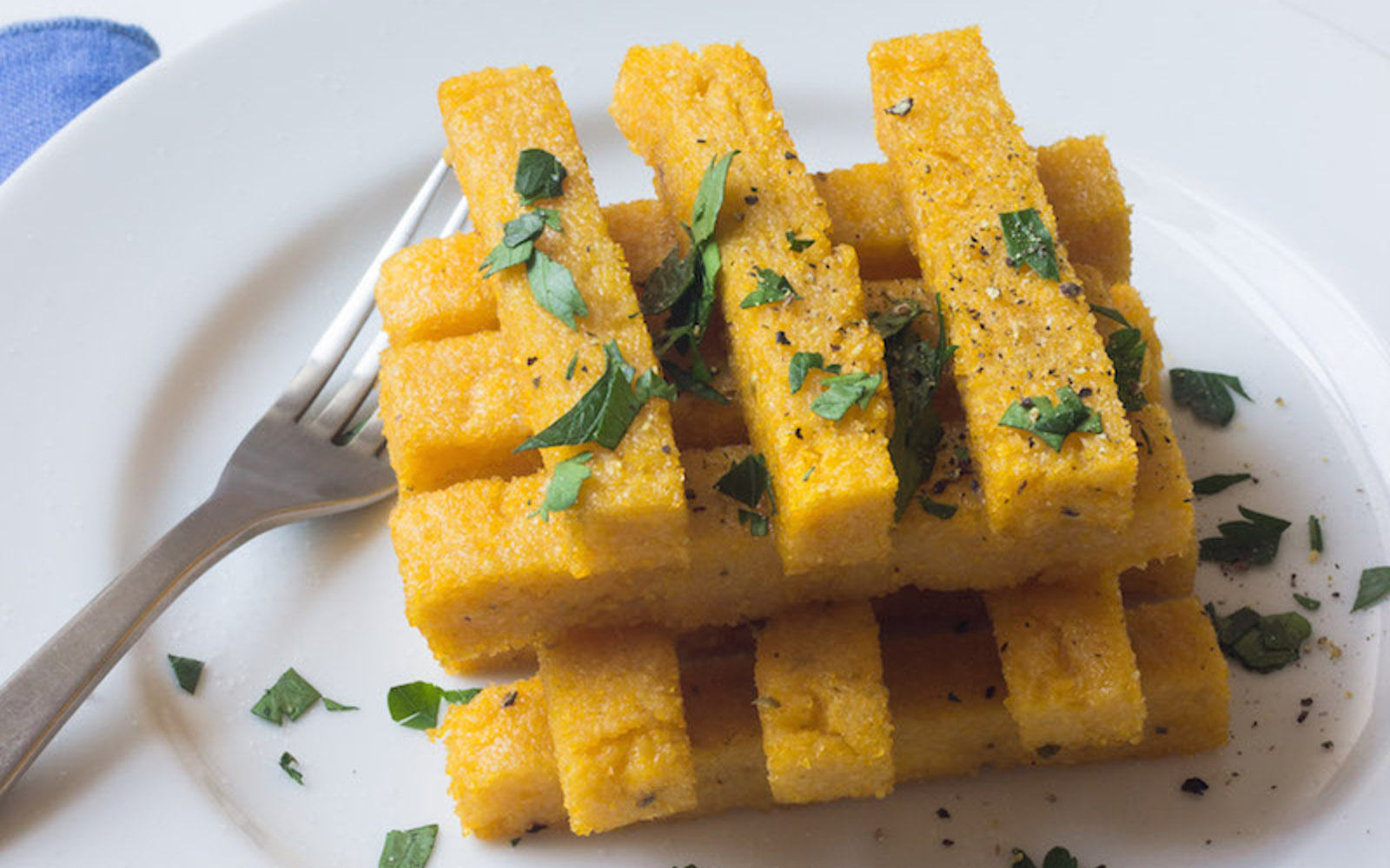 Crispy Baked Polenta Fries Vegan One Green Planet
