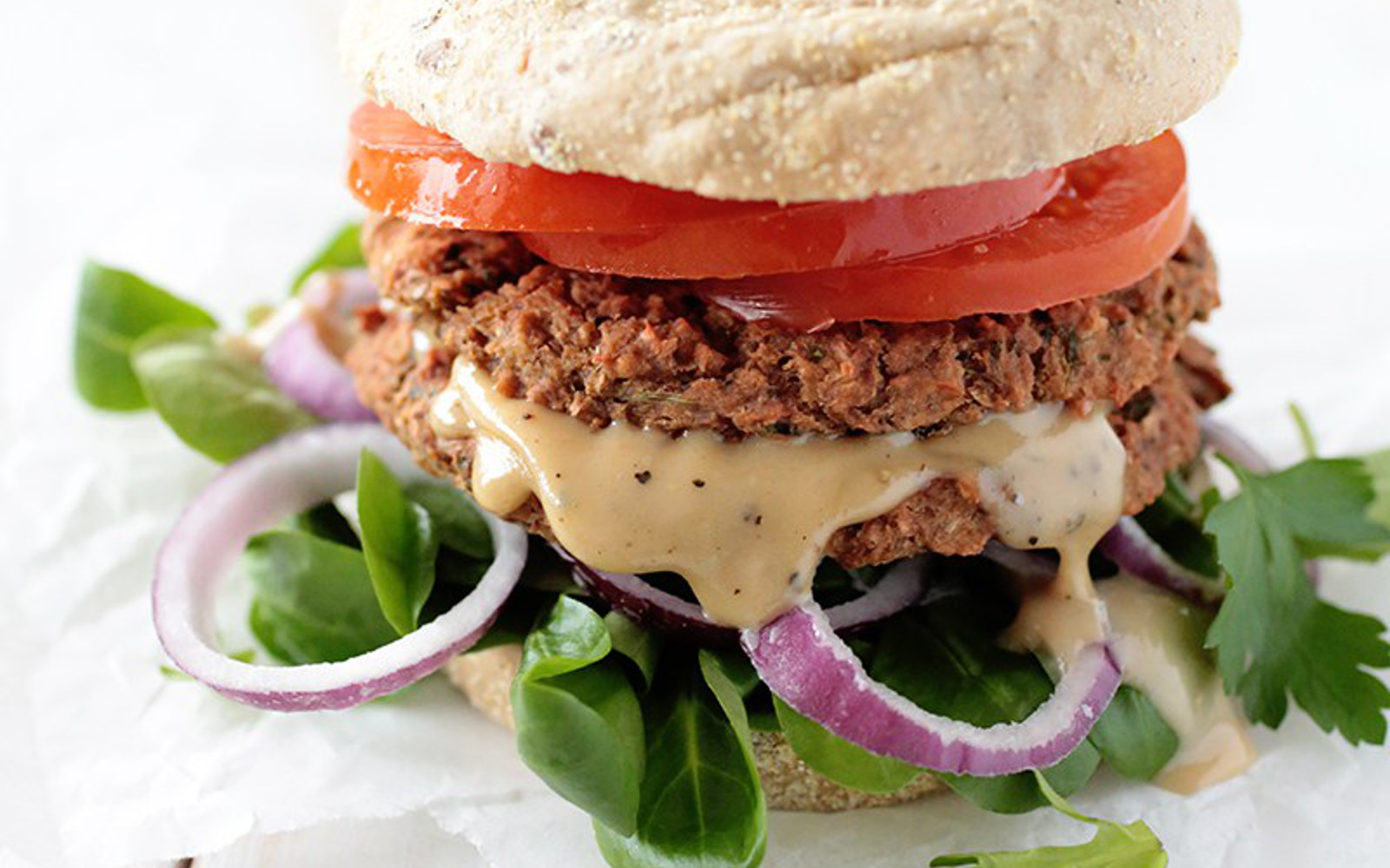 Beet and Chickpea Burger