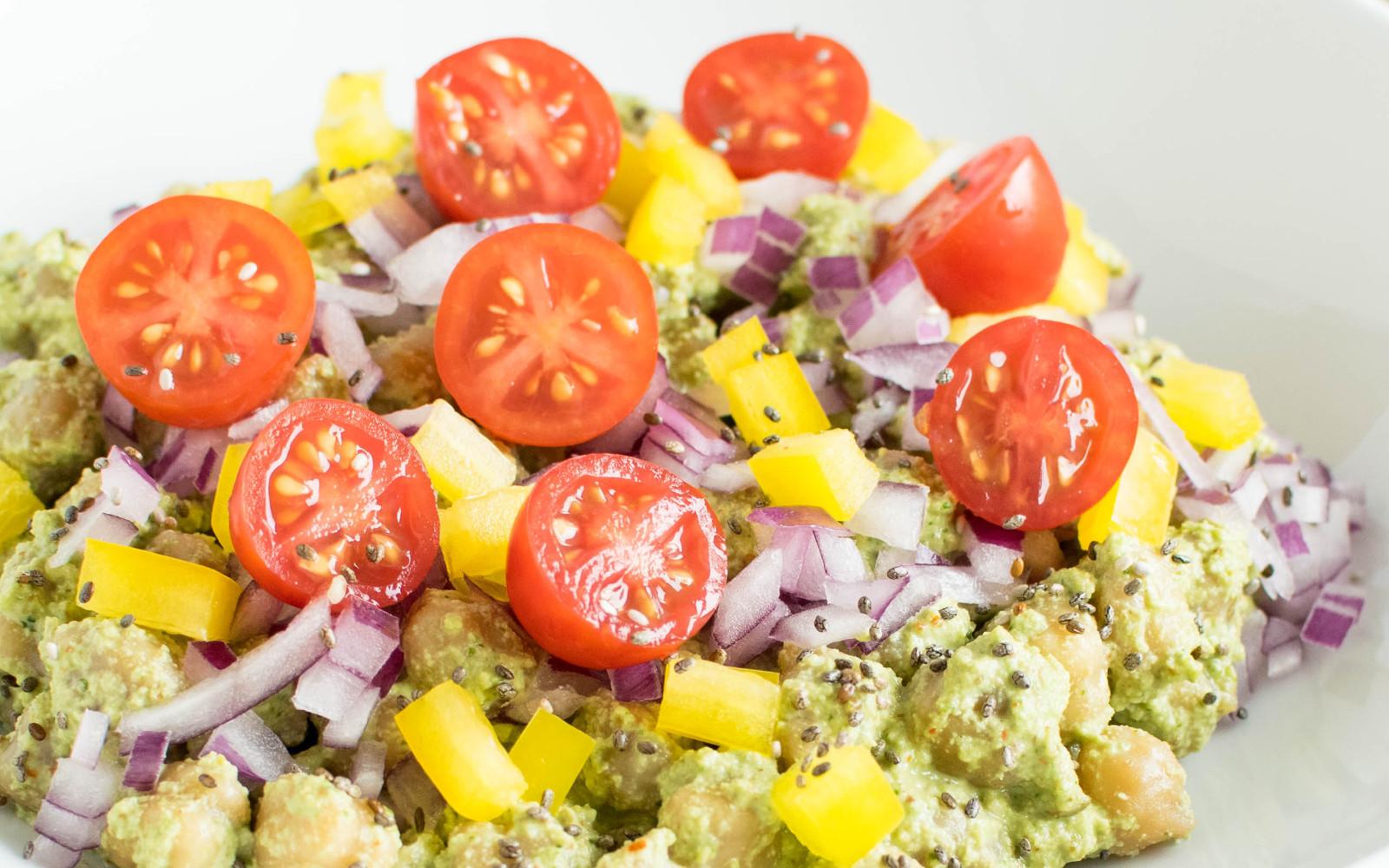Chickpea Salad With Cilantro Dressing