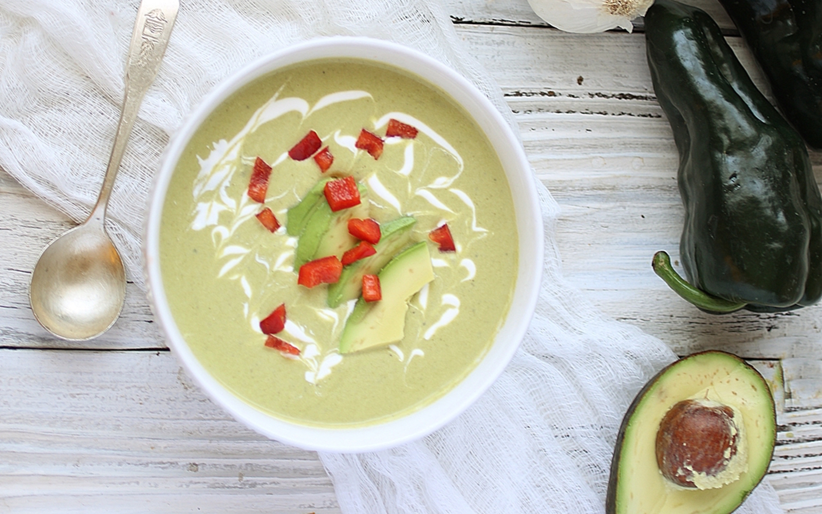 Creamy Roasted Poblano Soup