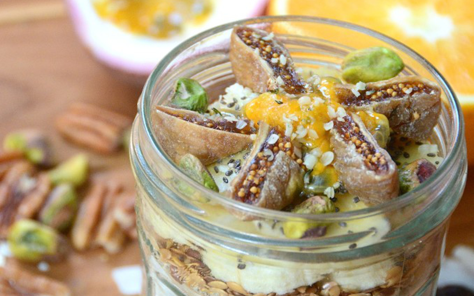 Fruity and Nutty Breakfast Jars