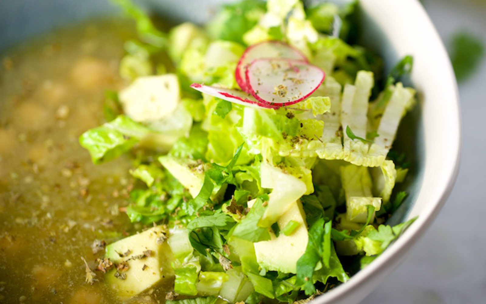 Mexican Green Pozole With Chickpeas