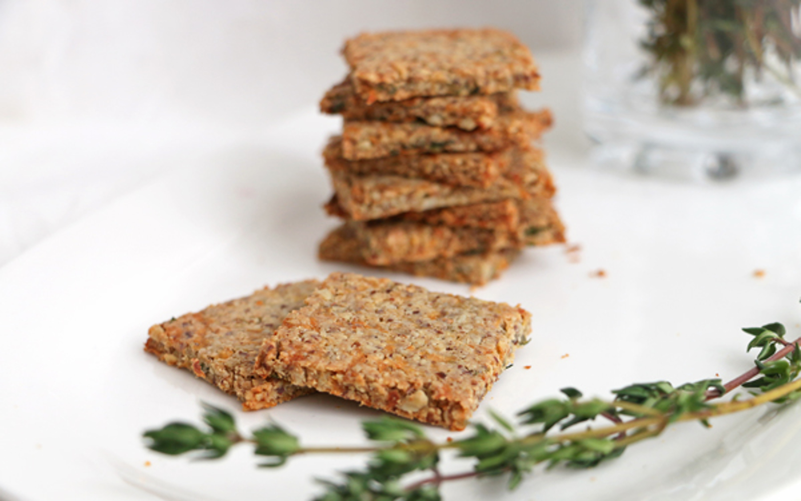 Parsnip and Thyme Grain-Free Crackers