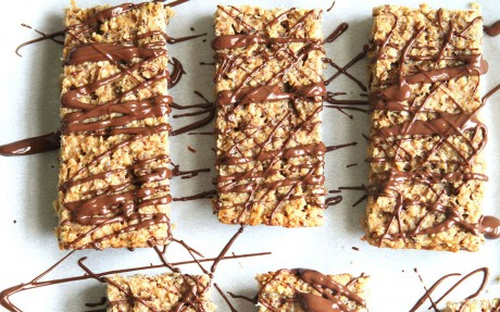 Peanut Butter and Banana Protein Bars