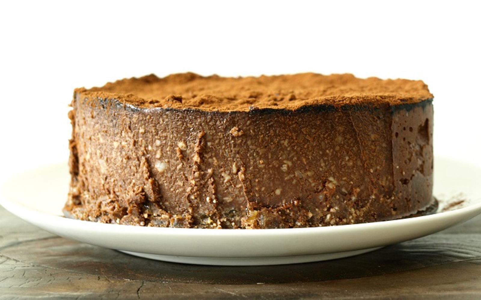 Raw Chocolate Macadamia Nut Cake
