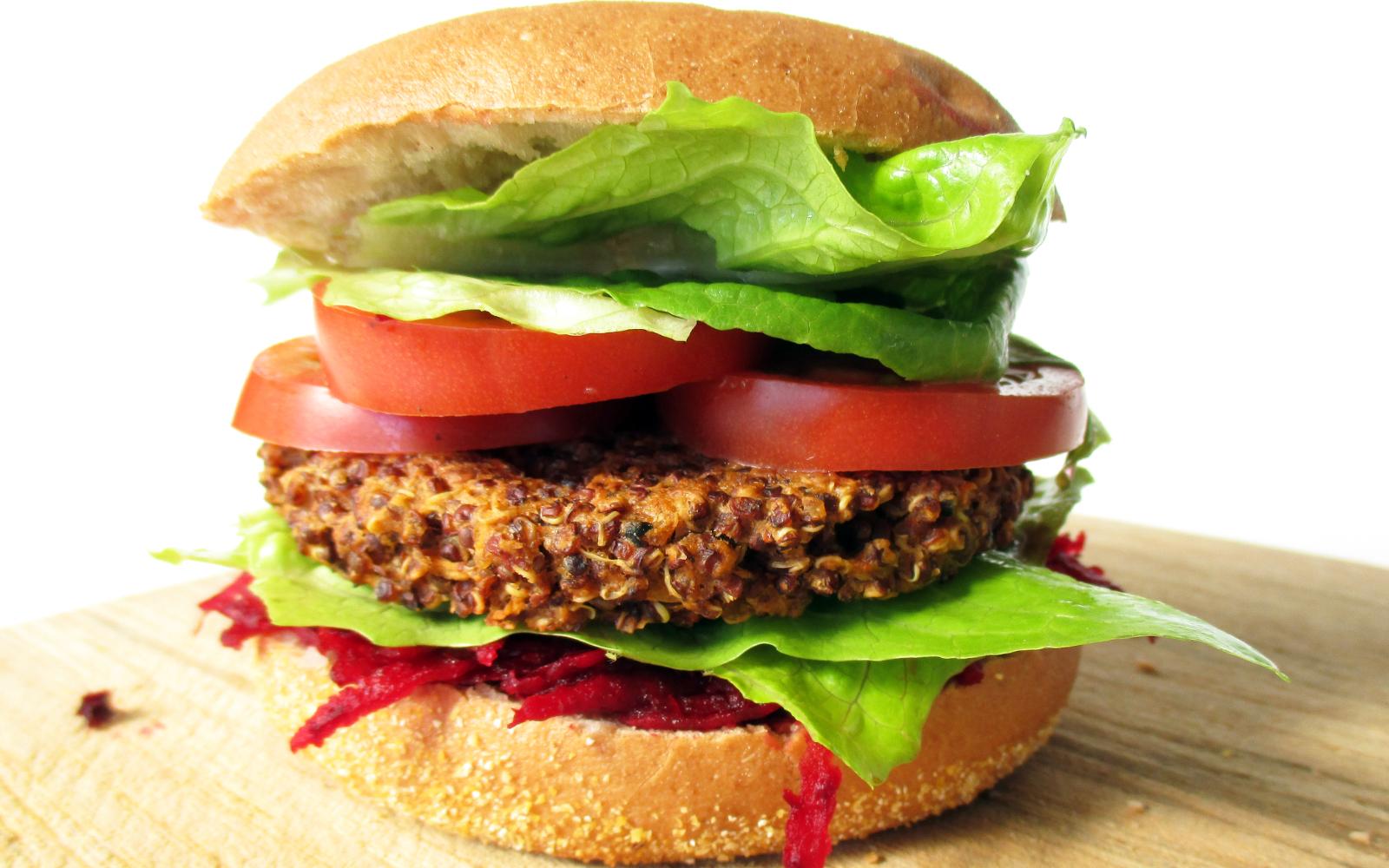 Red Quinoa Burger