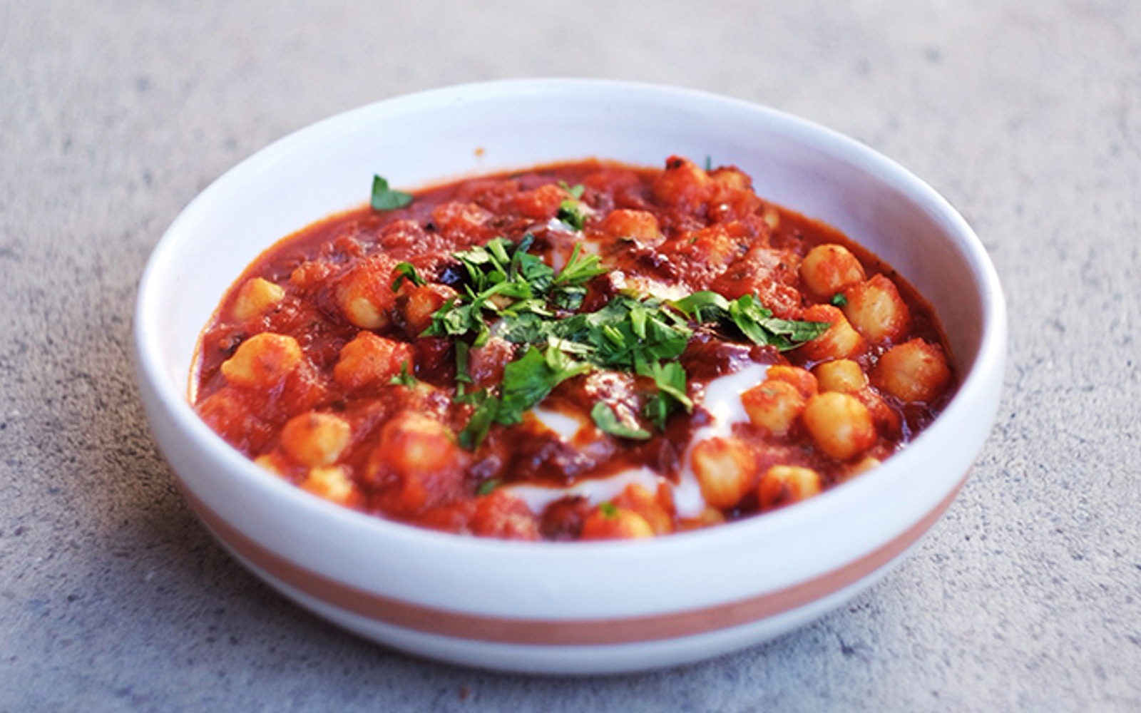 Roasted Tomato and Chickpeas Stew