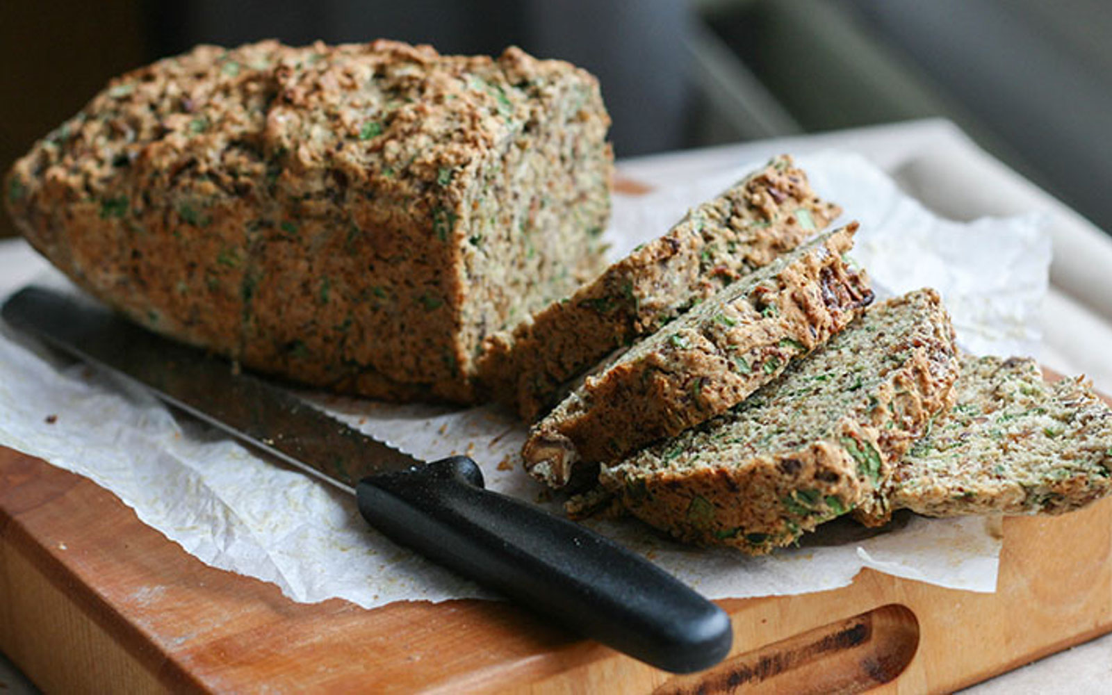 Caramelized Onion Spinach Bread